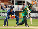 JP Duminy was lured out of his ground by James Tredwell to be stumped