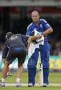 Jonathan Trott struggled with a hand injury