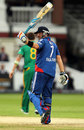 Ian Bell raises his bat after reaching fifty, England v South Africa, 4th ODI, Lord's, September 2, 2012