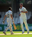 Ben Phillips removed Zafar Ansari for 3, Surrey v Nottinghamshire, County Championship, Division One, The Oval, September, 4, 2012