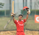 Christopher Janik scored a century, Malaysia v Singapore, ICC World Cricket League Division Four 2012, Kuala Lumpur, September 4, 2012