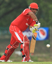 Singapore's Munish Arora plays the ball, Malaysia v Singapore, ICC World Cricket League Division Four 2012, Kuala Lumpur, September 4, 2012