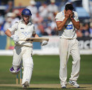 Sajid Mahmood holds his head in his hands as Murray Goodwin completes a run, Sussex v Somerset, County Championship, Division One, Hove, 2nd day, September 5, 2012