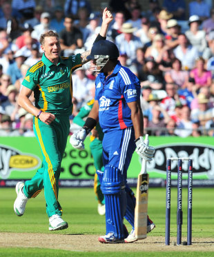 Dale Steyn had Samit Patel caught behind, England v South Africa, 5th NatWest ODI, Trent Bridge, September, 5, 2012