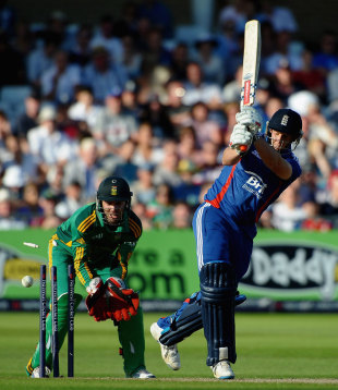England's batsmen played a series of horrid shots in their last one-day international of the year