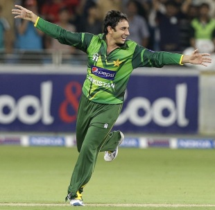 Saeed Ajmal goes on a celebratory run, Pakistan v Australia, 1st T20I, Dubai, September 5, 2012