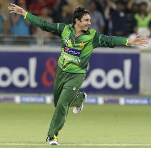 Saeed Ajmal goes on a celebratory run, Pakistan v Australia, 1st T20I, Dubai, September 5, 2012
