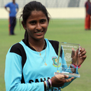 Bangladesh's Lata Mondal with the player-of-the-match award, Bangladesh Women v South Africa Women, 1st ODI, Dhaka, September 6, 2012