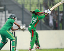 Lata Mondal plays a ball towards the off side, Bangladesh Women v South Africa Women, 1st ODI, Dhaka, September 6, 2012