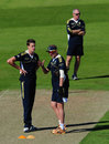 Morne Morkel talks with bowling coach Alan Donald, Chester-le-Street, September 7, 2012