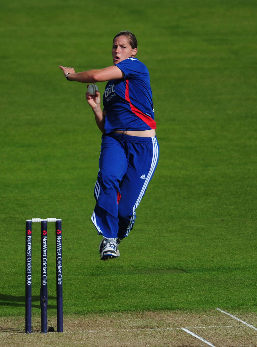 Katherine Brunt took two wickets in her opening over