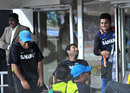 MS Dhoni, Irfan Pathan and Virat Kohli share a joke, India v New Zealand, 1st T20I, Visakhapatnam, September 8, 2012