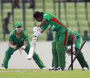 Tazia Akhter has her middle-stump pegged back, Bangladesh Women v South Africa Women, 3rd ODI, Dhaka, September 9, 2012