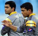 Umar Akmal and Kamran Akmal during training ahead of the 3rd T20