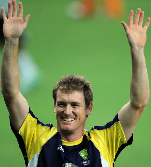 George Bailey gestures during a training session, Dubai, September 9, 2012