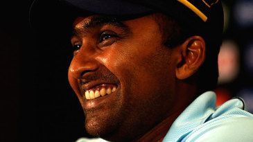 Mahela Jayawardene speaks to the media ahead of the ICC World Twenty20