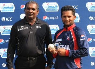 Basanta Regmi won the Man-of-the-Match award for his five-wicket haul in the final of ICC WCL Division Four