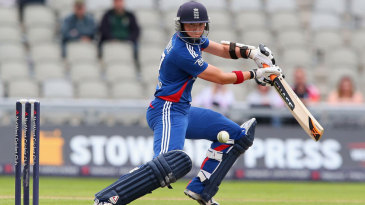 Arran Brindle anchored England with 42 off 41 balls