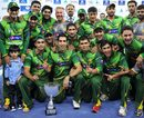 The Pakistan team with the trophy for the Twenty20 series, Pakistan v Australia, 3rd T20I, Dubai, September 10, 2012