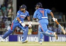 Yuvraj Singh and MS Dhoni scamper for a run, India v New Zealand, 2nd T20I, Chennai, September 11, 2012