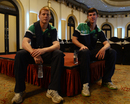 Kevin O'Brien and George Dockrell in an open media session ahead of the World Twenty20, Colombo, September 12, 2012