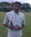 Shakeel Ahmed with the Man of the Match Trophy, Cornwall v Buckinghamshire, Minor Counties Championship Final, 12 September 2012