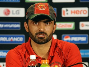 Afghanistan captain Nawroz Mangal at a press conference, World Twenty20 2012, Colombo, September 13, 2012