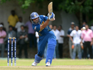 Tillakaratne Dilshan hit a brisk, unbeaten fifty, Sri Lanka v West Indies, World Twenty20 2012 warm-up, Colombo, September 13, 2012