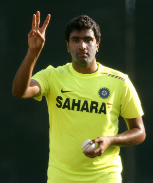 R Ashwin gestures at India's training session, World Twenty20, Colombo, September 14, 2012