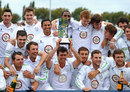 Derbyshire celebrate with the trophy, Derbyshire v Hampshire, County Championship, Division Two, Derby, September 14, 2012