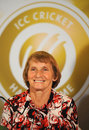 England's Enid Bakewell was inducted into the Cricket Hall of Fame, Colombo, September 14, 2012