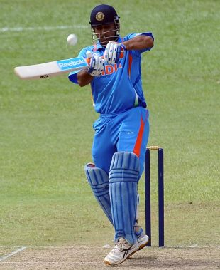 MS Dhoni's aggressive half-century helped India post a competitive score