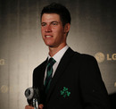 George Dockrell with the Associate and Affiliate Cricketer of the Year award, Colombo, September 15, 2012