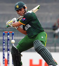 Karman Akmal prepares to play the cut, India v Pakistan, World Twenty20 warm-ups, Colombo, September 17, 2012
