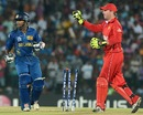 Dilshan Munaweera was run out after he lost his bat mid pitch, Sri Lanka v Zimbabwe, Group C, World T20 2012, Hambantota, September 18, 2012