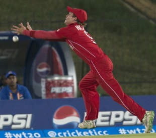 Malcolm Waller drops a catch , Sri Lanka v Zimbabwe, Group C, World T20 2012, Hambantota, September 18, 2012
