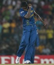 Ajantha Mendis recorded best ever T20I bowling figures, Sri Lanka v Zimbabwe, Group C, World T20 2012, Hambantota, September 18, 2012