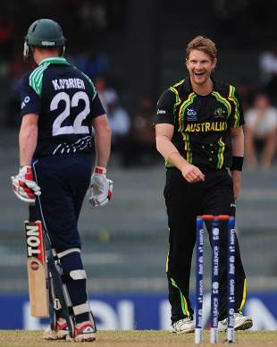 Shane Watson got rid of Kevin O'Brien, Australia v Ireland, World Twenty20 2012, Group B, Colombo, September 19, 2012