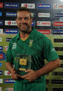 Jacques Kallis was named Man of the Match for his 4 for 15, South Africa v Zimbabwe, World T20 2012, Group C, Hambantota, September 20, 2012