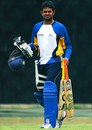 Lahiru Thirimanne heads for a net session