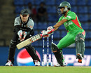 Nasir Hossain plays a cut shot, Bangladesh v New Zealand, World Twenty20 2012, Group D, Pallekele, September 21, 2012