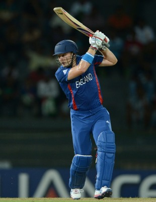 Luke Wright plays the ball on the off side, Afghanistan v England, World Twenty20 2012, Group A, Colombo, September 21, 2012