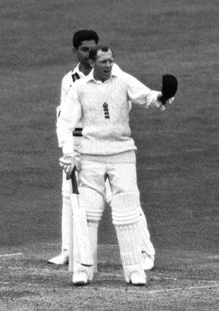 Geoff Boycott wakes the crowd as he reaches a painstaking double hundred on his way to 246, England v India, 1st Test, Headingley, June 9, 1967