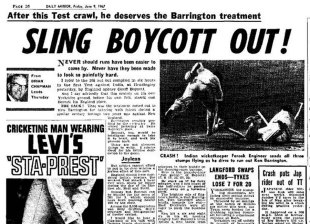 The <I>Daily Mirror</I> lambastes Geoff Boycott for his first-day crawl, England v India, 1st Test, Headingley, June 8, 1967