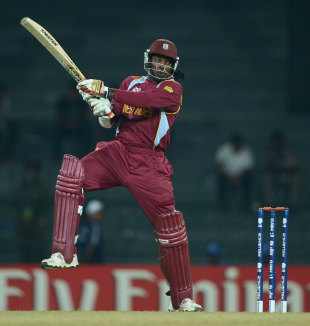 Chris Gayle announced himself on the tournament with four sixes, Australia v West Indies, World T20 2012, Group B, Colombo, September, 22, 2012