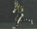 Shane Watson runs through the rain, Australia v West Indies, World Twenty20 2012, Group B, Colombo, September 22, 2012