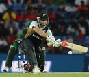 Daniel Vettori goes for a sweep, New Zealand v Pakistan, World T20 2012, Group D, Pallekele, September, 23, 2012