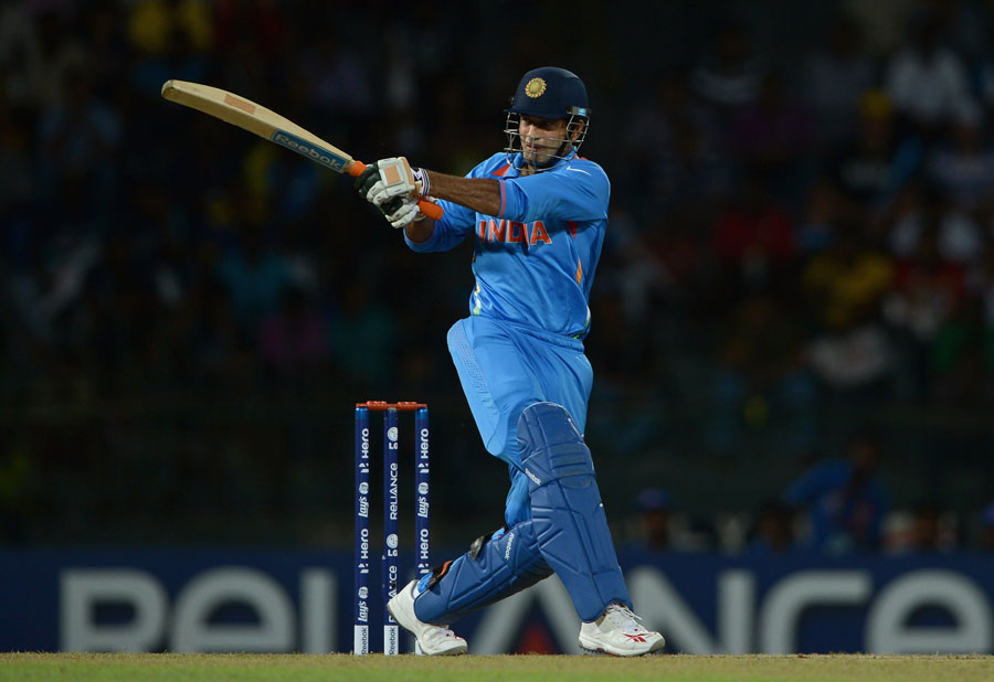 Irfan Pathan pulls during his brief innings of 8 | Photo | ICC ...