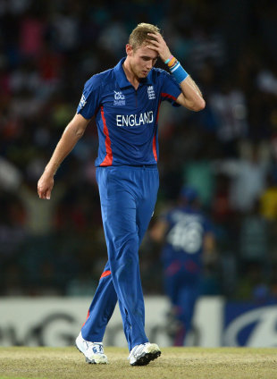Stuart Broad was among the England bowlers to suffer, England v India, World Twenty20, Group A, Colombo