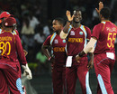 West Indies celebrate a wicket, Ireland v West Indies, World Twenty20 2012, Group B, Colombo, September 24, 2012
